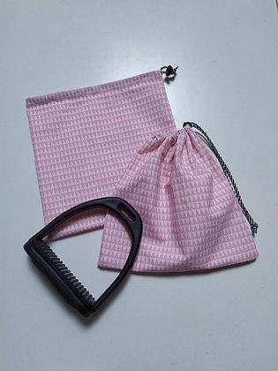 Pochettes d'étrier triangles rose