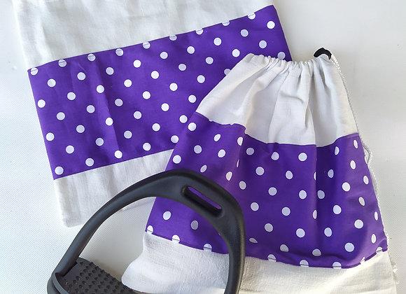 Pochettes d'étriers bande violette