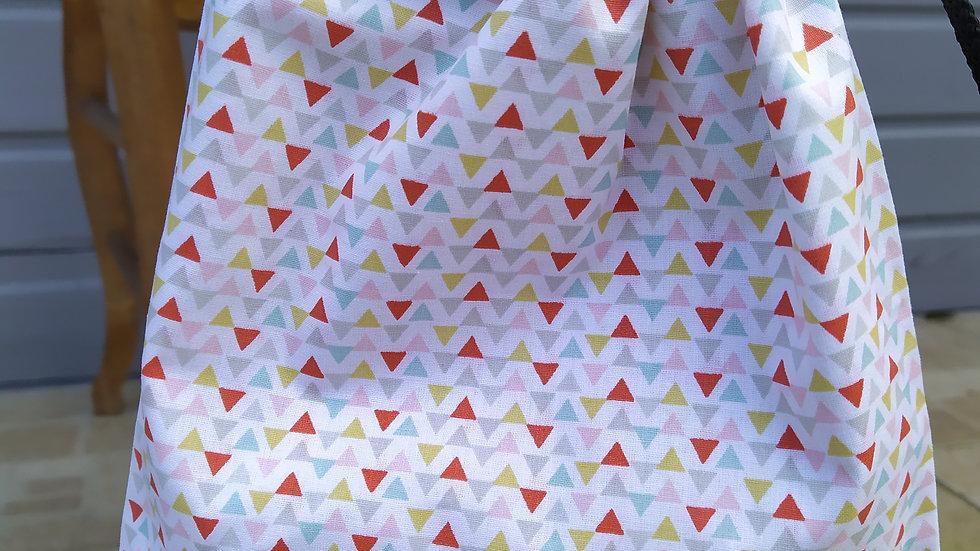 Pochettes d'étriers blanc triangles