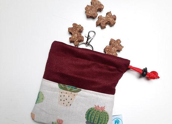 Pochettes à friandises cactus bordeaux