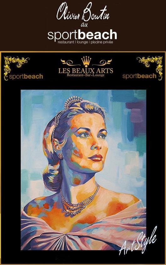 Vernissage de L'artiste Olivier Boutin au restaurant le sport beach