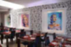 Artiste peintre Olivier Boutin, Exposition Braserrie Restaurant Le Chaperon Rouge