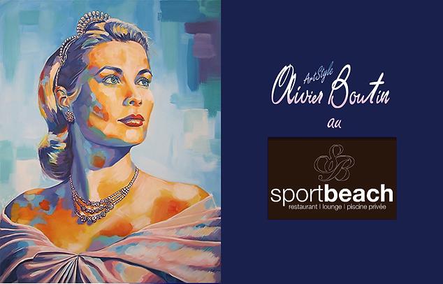 Exposition de l'artiste Olivier Boutin au sportbeach restaurant, avant boite, club à l'Escale Borèly Marseille
