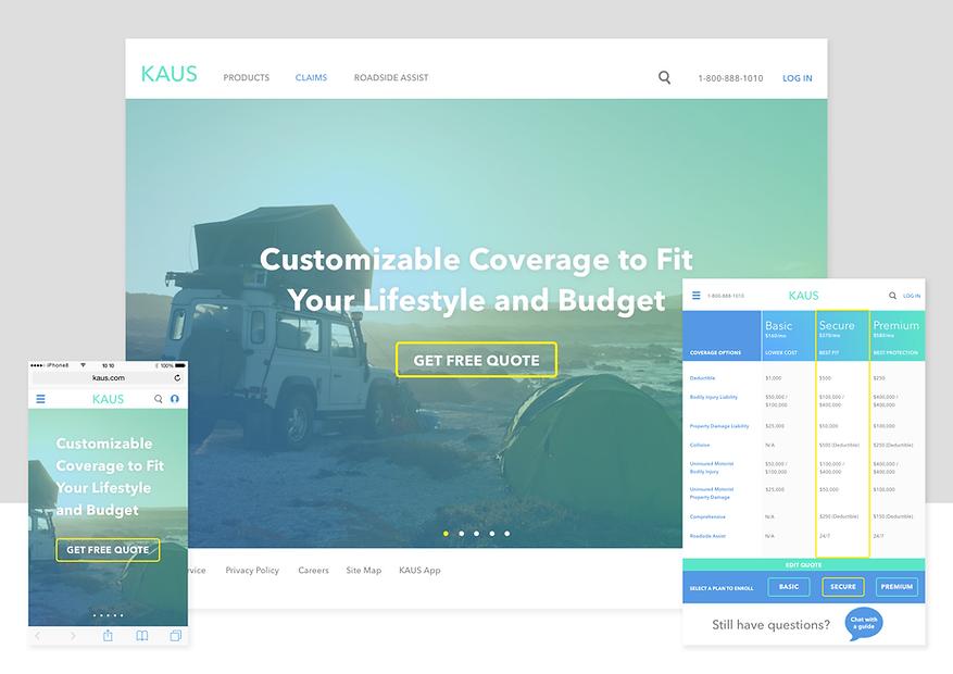 KAUS interactive prototype