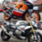 Motor bikes after full valet clean