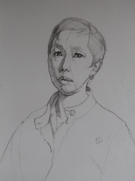 Portrait study of Frances