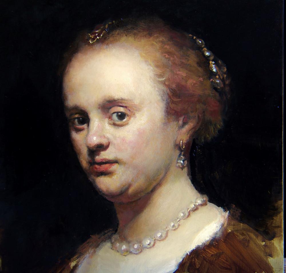 Copy after Rembrandt's portrait of a lady 1634