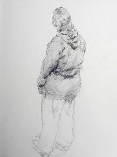 Study of standing girl