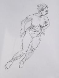 Rapid sketch of nude