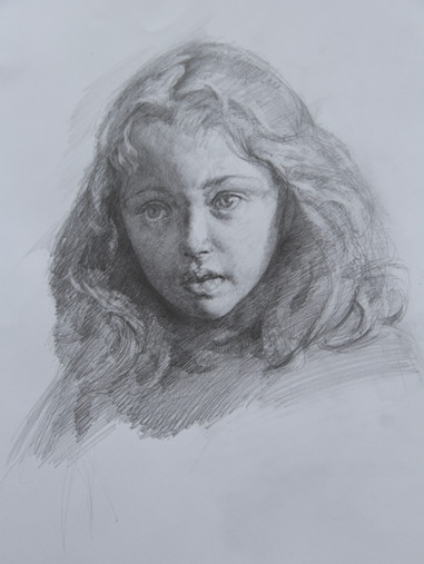 Portrait study of a girl