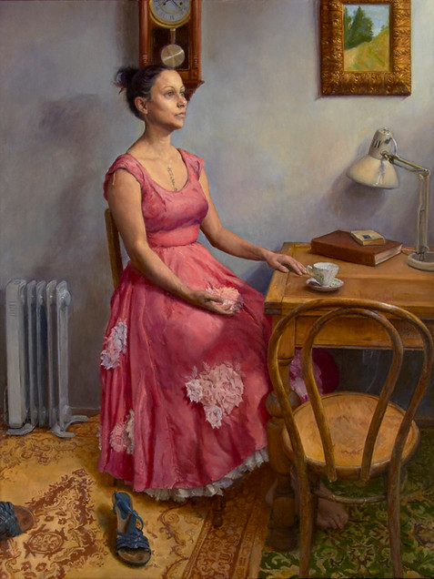 Girl with a tea cup