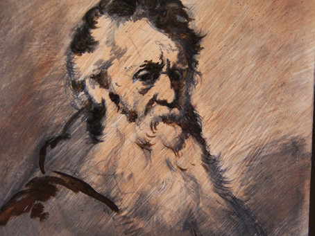 """Copying Rembrandt """"Man with a beard"""" 1632"""