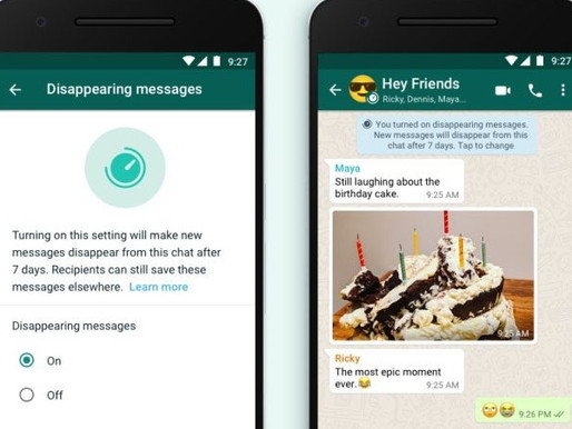 WhatsApp to roll out disappearing photos feature