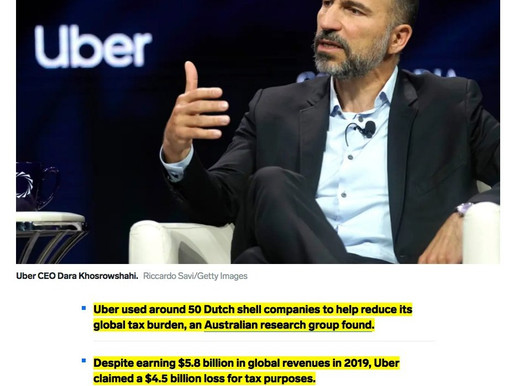Champions League of tax avoidance:' Uber used 50 Dutch shell companies to dodge taxes on nearly $6B