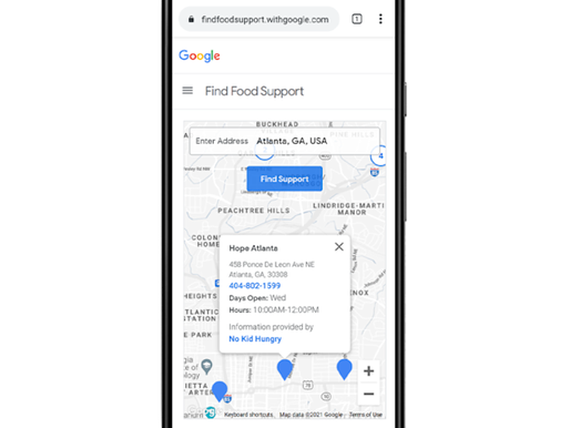 Google debuts new website & resource kit for Americans experiencing food insecurity