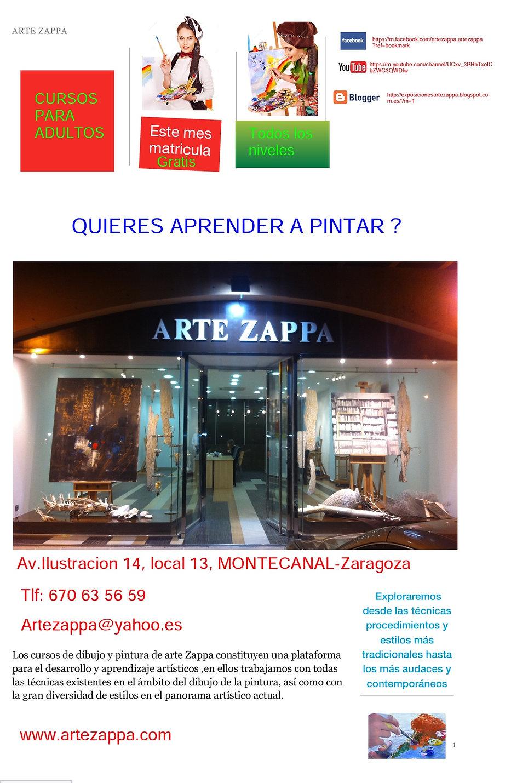 Academia de dibujo y pintura zaragoza