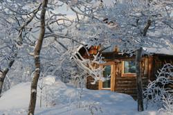 The Cosy Cabin in Winter.