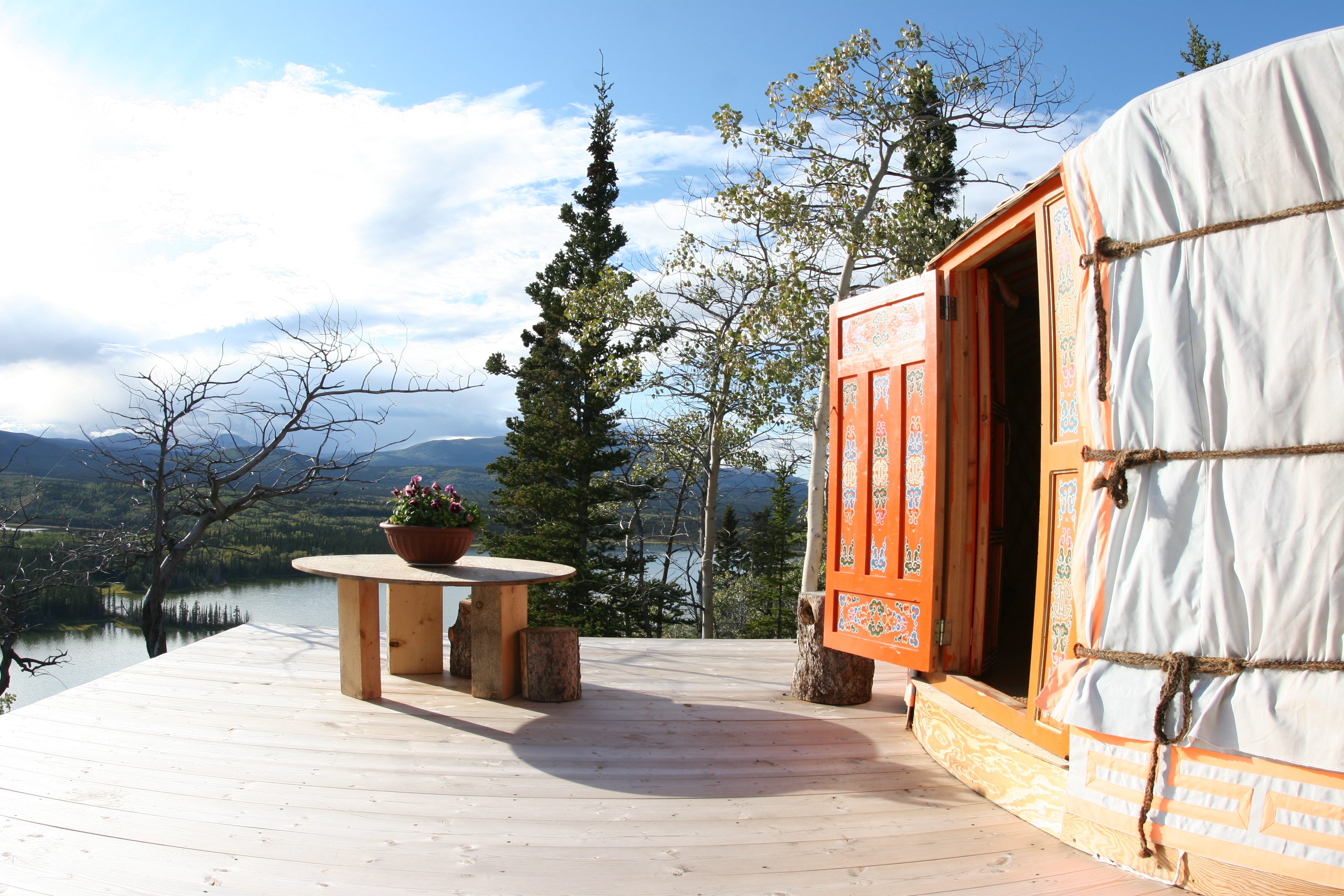 The yurt in summer.