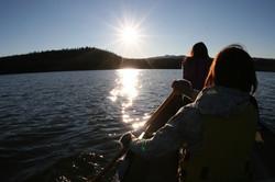 Evening paddle on the lake
