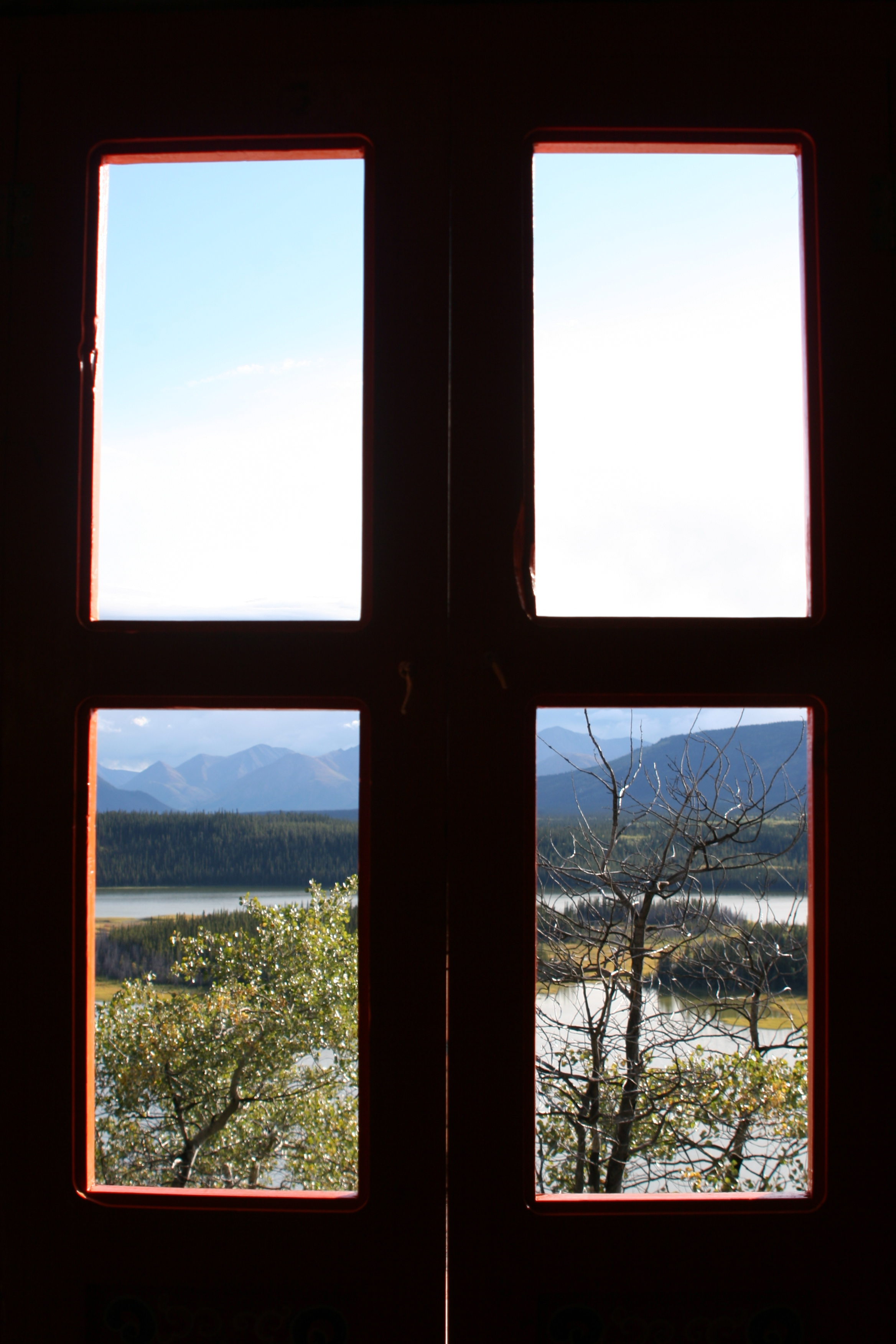 A view through the window.