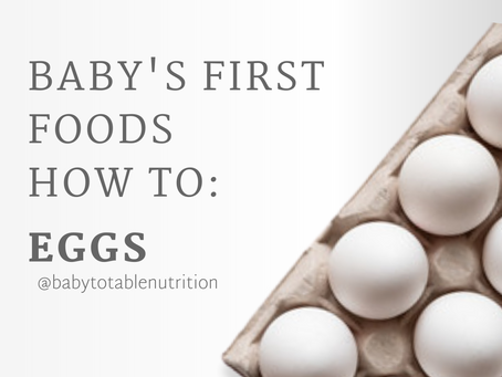 Baby's First Foods How to: Eggs🍳