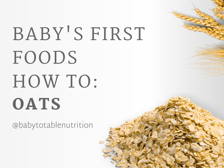 First Foods How to: Oats For Babies