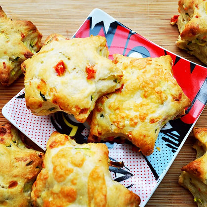 Courgette, Red Pepper and Cheese Scones - Baby-Led Weaning (BLW)