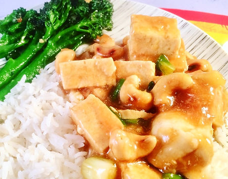 Ginger and Spring Onion Tofu with Cashew Nuts - Baby-Led Weaning (BLW)