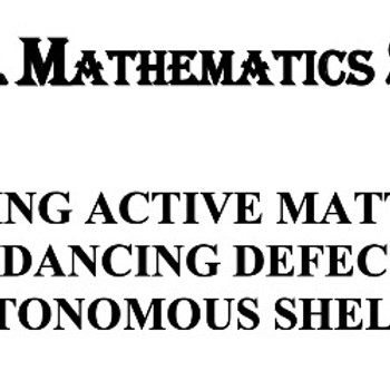 Invited Talk at MIT Physical Math Seminar