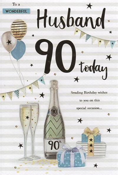 Husband 90th Birthday Card
