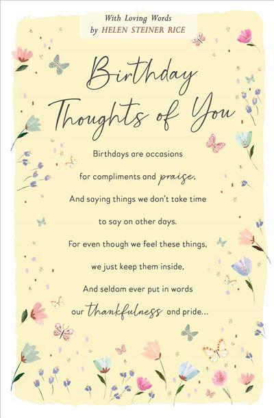 Helen Steiner Rice Female Birthday Card