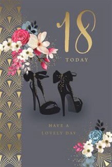 Female 18th Birthday Card