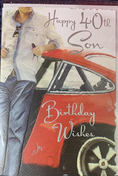 Son 40th Birthday Card