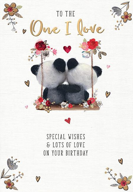 To The One I love Birthday Card