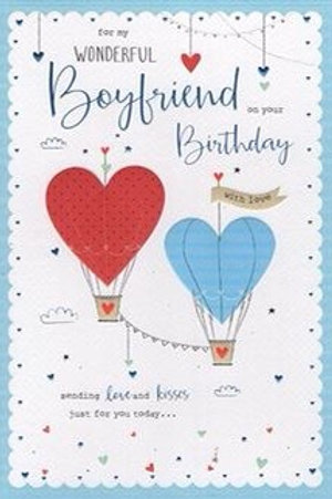 Wonderful Boyfriend Birthday Card