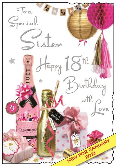Sister 18th Birthday Card