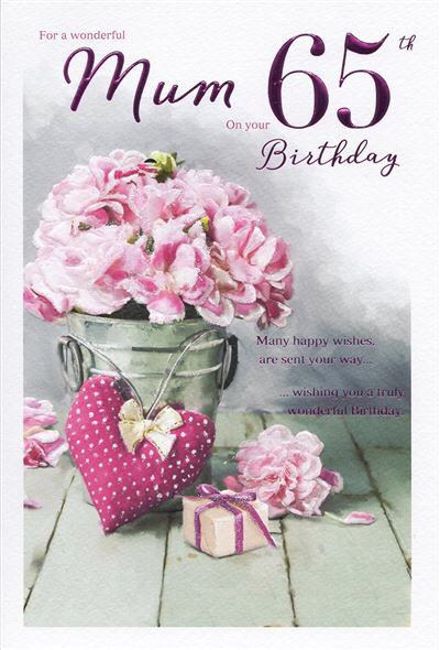 Mum 65th Birthday Card