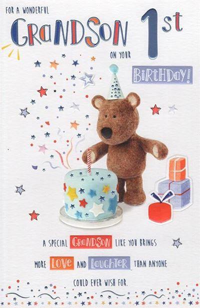 For a wonderful Grandson 1st Birthday