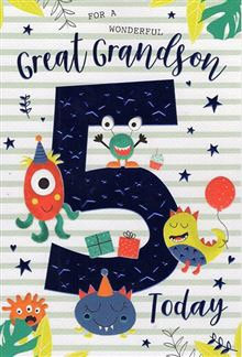 For a wonderful Great Grandson  5 today