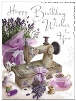 Happy Birthday Wishes To You Brightly Decorated With Lavender & Purple items