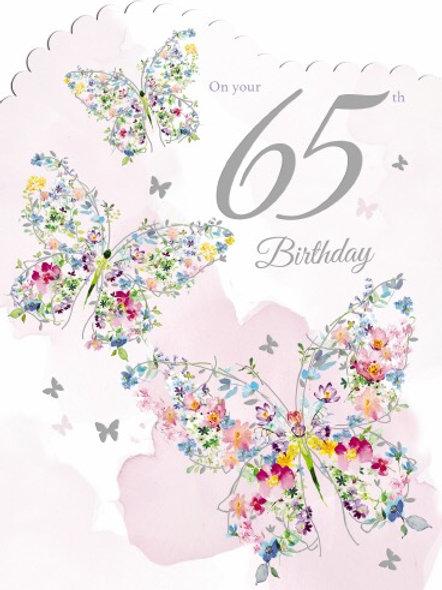 Female Birthday Card On Your 65th Birthday