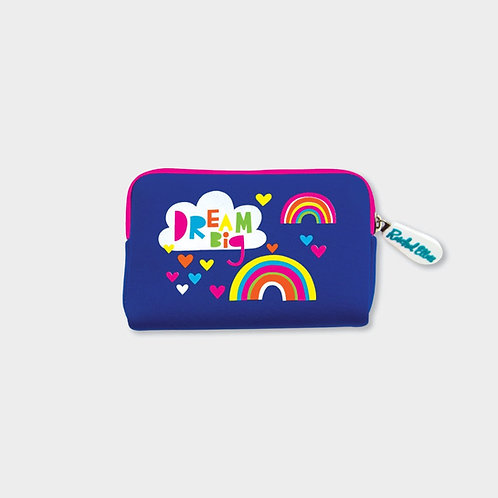 Rachel Ellen neoprene DREAM BIG/RAINBIWS purse