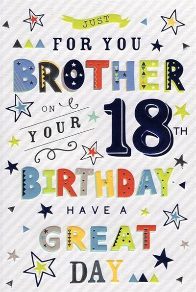 Brother 18th Birthday Card