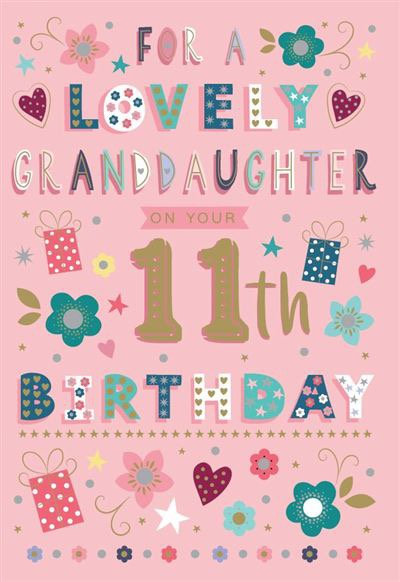 For a lovely Granddaughter on your 11th Birthday