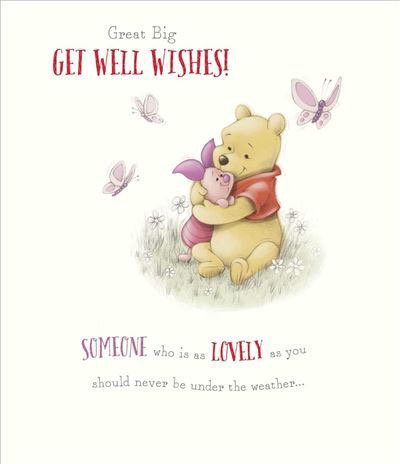 Winnie The pooh Get well Card