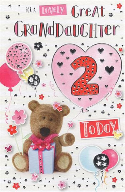 For a lively Great Granddaughter 2 today