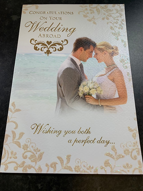 Congratulations on Your Wedding Abroad Card