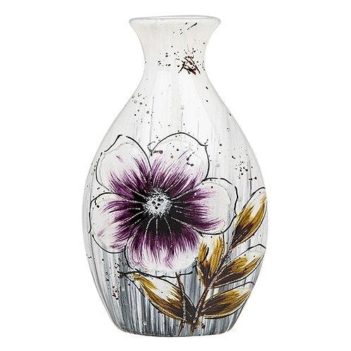 Bright Blooms Purple Bottle Vase
