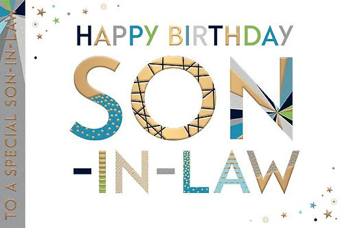 Happy birthday Son in Law Card