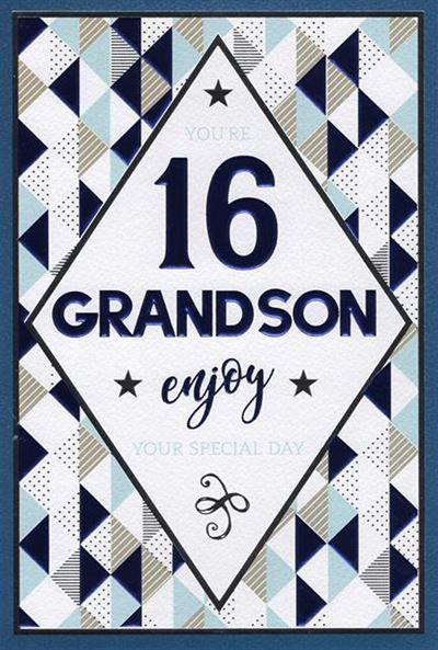 Grandson 16th Birthday Card